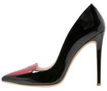 BERLIN High Heel Pumps schwarz/rot