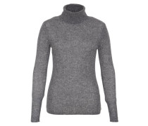 Strickpullover mottled mid grey
