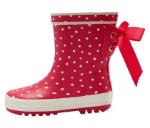 BOW WELLIES Gummistiefel red