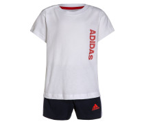 SET kurze Sporthose white/core red