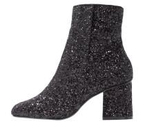 Stiefelette - black glitter