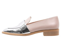 Slipper silver/nude