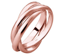 TRIO BASIC - Ring - rosegold-coloured