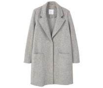 Wollmantel / klassischer Mantel medium heather grey
