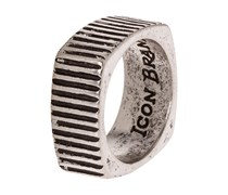TIME SQUARED Ring silvercoloured