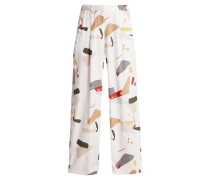 ORGANIC DISPLACEMENT Stoffhose off white