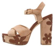 High Heel Sandaletten - brown