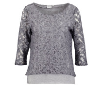 OBJMARY Langarmshirt medium grey melange