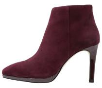 High Heel Stiefelette burgundy