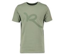 TShirt print grey olive
