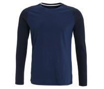 LUC Langarmshirt blue melange
