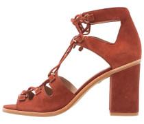 NOVARA DRING LACE UP - High Heel Sandaletten - rust