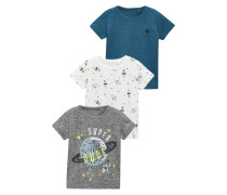 3 PACK TShirt print grey/white/blue
