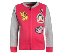 BUTTON - Sweatjacke - rouge red