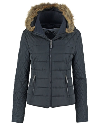 superdry damen winterjacke navy reduziert. Black Bedroom Furniture Sets. Home Design Ideas
