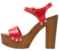 High Heel Sandaletten - rosso