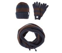SET Schal blue/brown