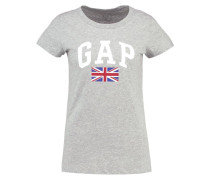 UK FLAG - T-Shirt print - light heather grey