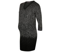 Strickkleid black/ecru