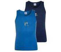 2 PACK - Unterhemd / Shirt - blue