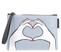 HEART HANDS - Clutch - denim