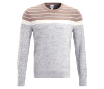 BUDDING Strickpullover grey camel