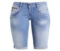 BELIXA - Jeans Shorts - flexy baby blue