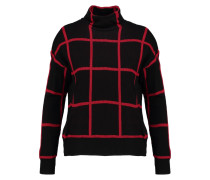 Strickpullover - black/red