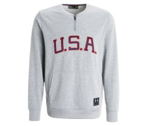 USA Sweatshirt grey/red