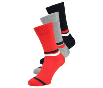 3 PACK Socken red/blue/grey