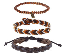 3 PACK - Armband - brown