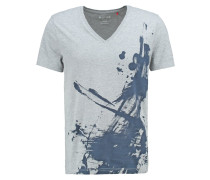 TAILORED FIT TShirt print grau