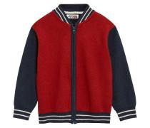 Strickjacke red/navy