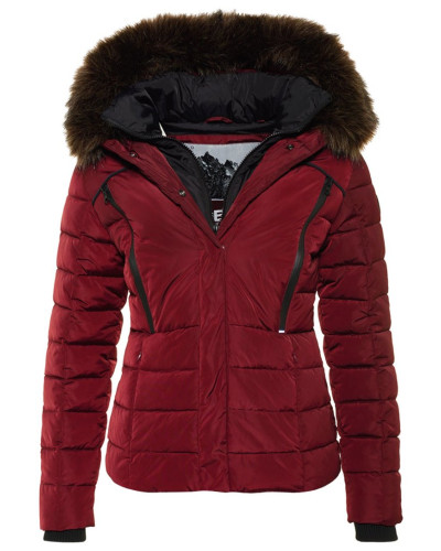 superdry damen winterjacke berry reduziert. Black Bedroom Furniture Sets. Home Design Ideas