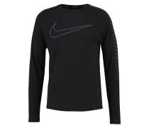 Langarmshirt black/reflect black