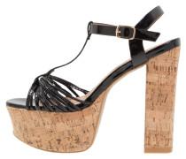 High Heel Sandaletten - black