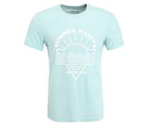 T-Shirt print - mint melange