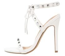 High Heel Sandaletten white