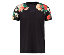 HANS - T-Shirt print - black/multi