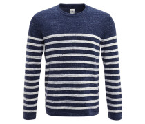 Strickpullover - navy/white stripe