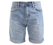 DAVIES - Jeans Shorts - blue true bleached