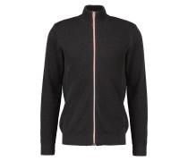 ERIK Strickjacke charcoal melange/orange