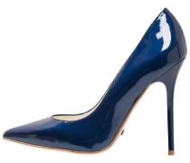 High Heel Pumps - blue/coral