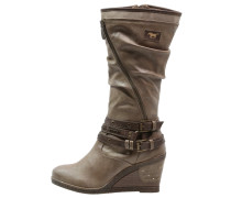 Keilstiefel taupe