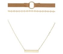 3 PACK - Halskette - brown