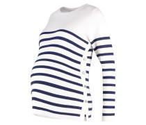 Strickpullover ecru/navy stripe