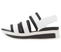 DANILA Plateausandalette black/white