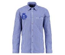 Hemd weiss/blau