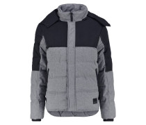 Winterjacke mottled dark grey
