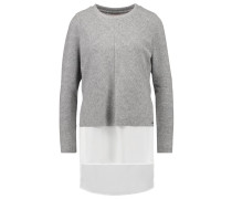 VMISLA Sweatshirt light grey melange/white